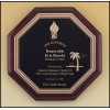 Octagonal Rosewood Piano Finish Plaque