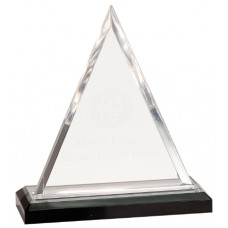 Triangle Impress Acrylic - Silver