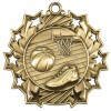 "2 1/4"" Ten Star Basketball Medal"
