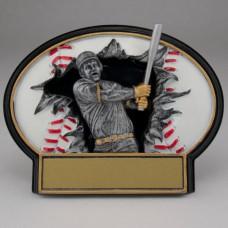 3D Burst Thru Baseball Resin - Large